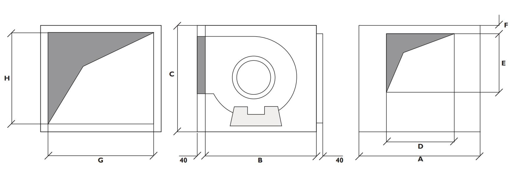 ventilador centrifugo -caja
